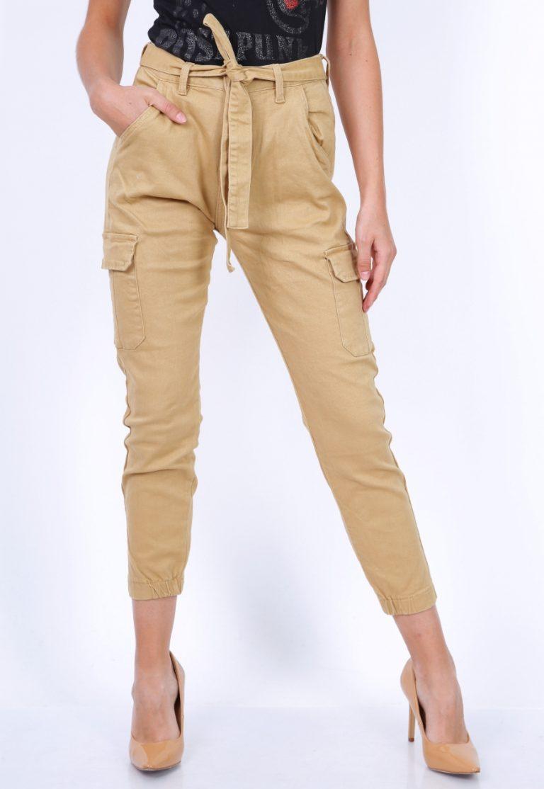 Pantalón tipo Safari en Beige